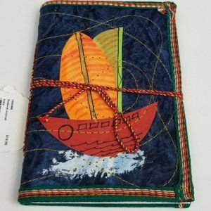 Embroidered Sailboat Sketchbook Journal Notebook